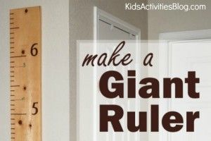 Watch the Kids Grow - Measure them with a Ruler - Kids Activities Blog