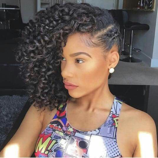 Curls And More Curls Medium Natural Hair Styles Side Curly Hairstyles Hair Styles