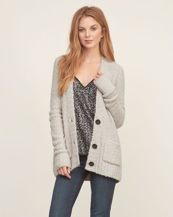 Abercrombie and Fitch Womens Textured Boyfriend Cardigan | dress ...