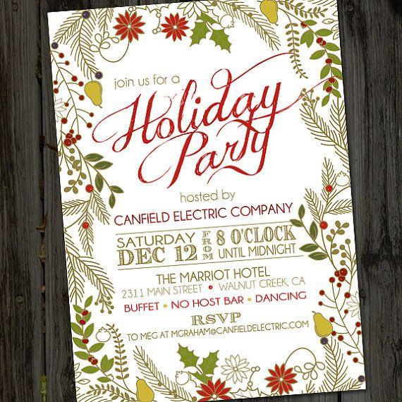 Color Me Christmas, Christmas Party Invitation, Christmas Invitation