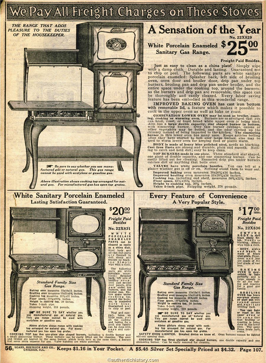 STOVES: 1914 Sears Household Catalog stoves | Advertisements 1900 ...