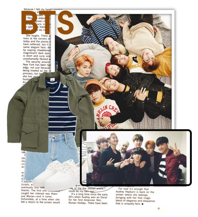 """""""Bangtan Boys"""" by pandagirl2102 ❤ liked on Polyvore featuring Vans, Aéropostale, River Island and BKpop"""