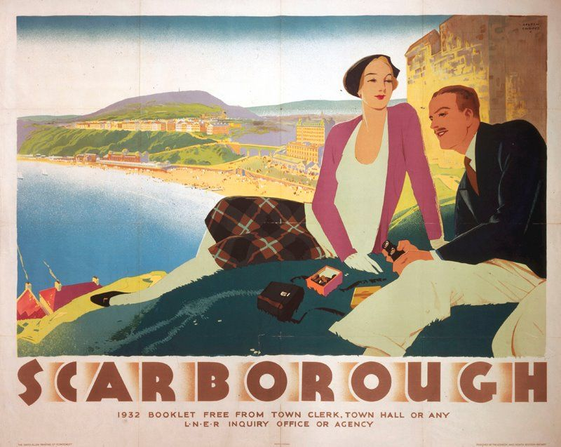 Scarborough travel poster by Austin Cooper, 1932 courtesy of - courtesy clerk