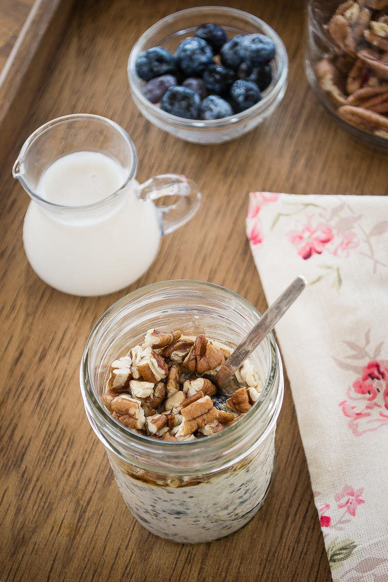 avena sin cocinar overnight oatmeal desayuno avena y
