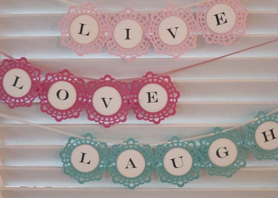 Paper Banner   Paper Garland  Customized Your by StudioToto
