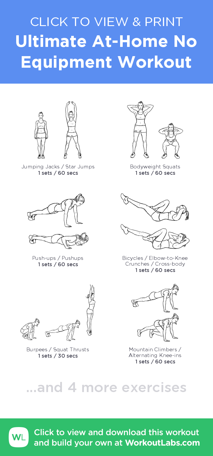 Ultimate At-Home No Equipment Workout – click to view and print this on modern villa design, 3d home design, ultimate home heating systems, cutting edge home design, advanced home design, ultimate dream home,