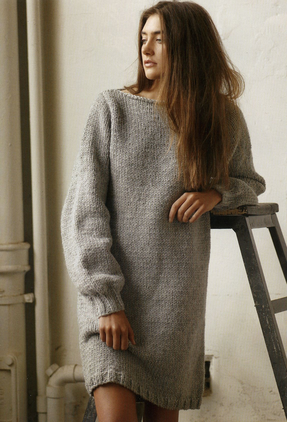 Sweater Dress Pattern From The New Patons Family And Homewares Pattern Book Materials Knit Sweater Dress Pattern Sweater Dress Pattern Knitting Patterns Free [ 1687 x 1149 Pixel ]