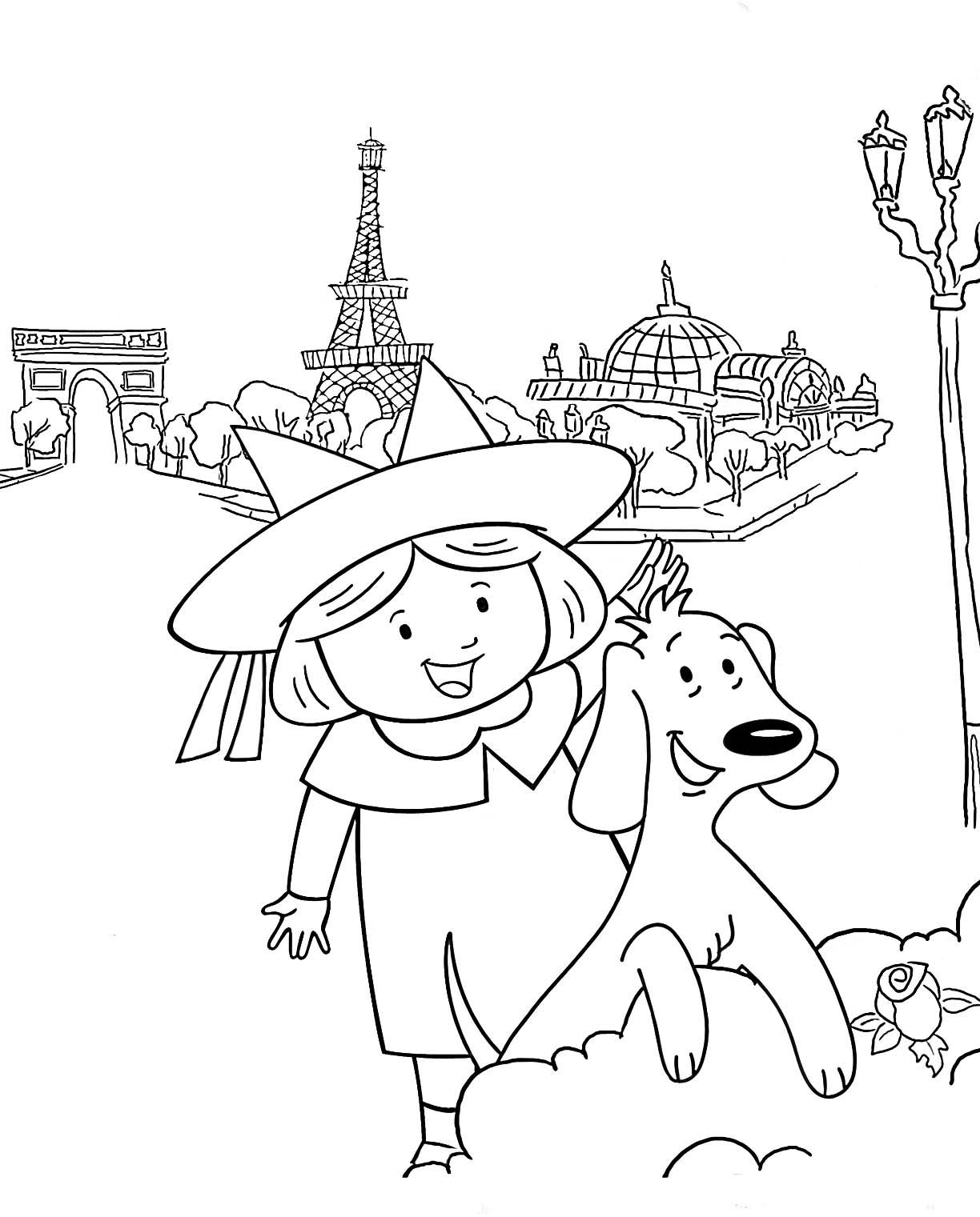 Madeline in paris coloring pages murderthestout for Madeline coloring pages printable