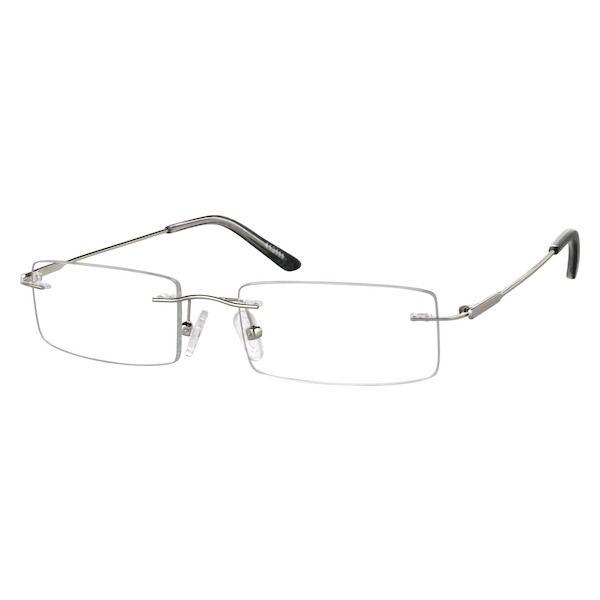 6aa7324cde Zenni Lightweight Rimless Prescription Eyeglasses Silver Other Metal 413111  Temples