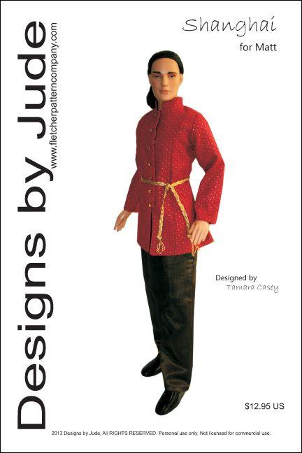 Tonner Dress It Up Doll Clothes Sewing Pattern for Matt Rufus Sean
