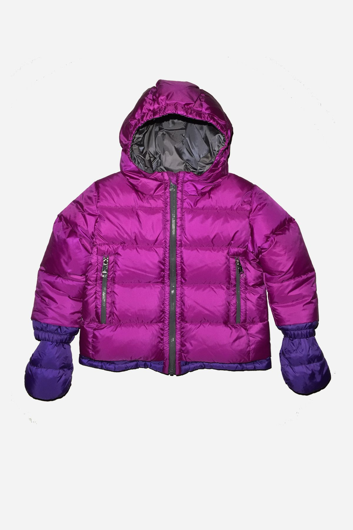 aa6825652 ADD Down Baby Girls Down Jacket with Mitts - Dahlia Pink (Size 18M ...