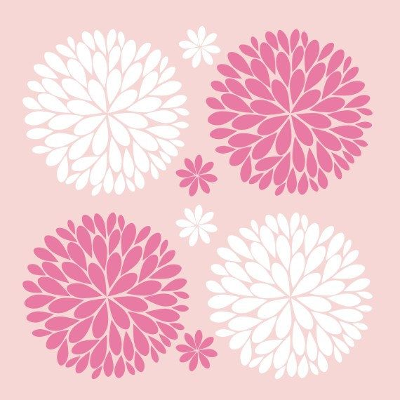 Pin By Stephanie Gilbert On Home Decor Flower Wall Decals Silhouette Cameo Vinyl Flower Tutorial