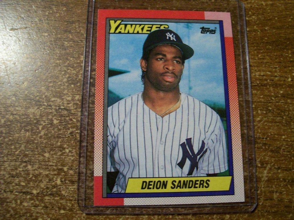 1990 Topps Deion Sanders New York Yankees 61 Baseball