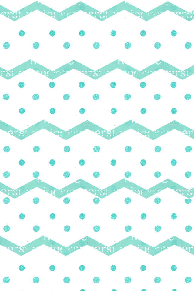 Turquoise chevon zigzag dots iphone wallpaper background