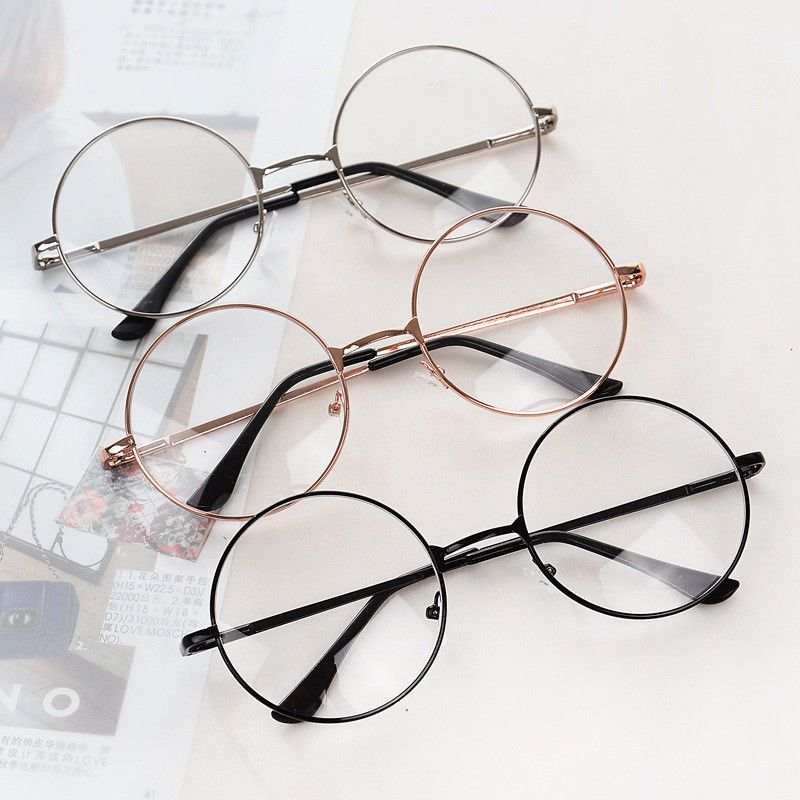 70bfb219d5a9  1.74 - Women Men Large Metal Frame Clear Lens Round Circle Eye Glasses  Nerd Vintage  ebay  Fashion