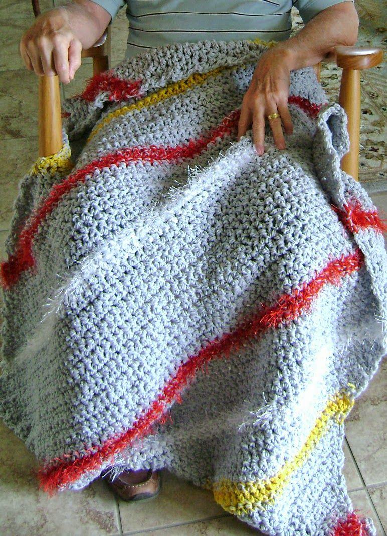 Diagonal Lap-ghan - crochet square lap blanket or small afghan, free ...