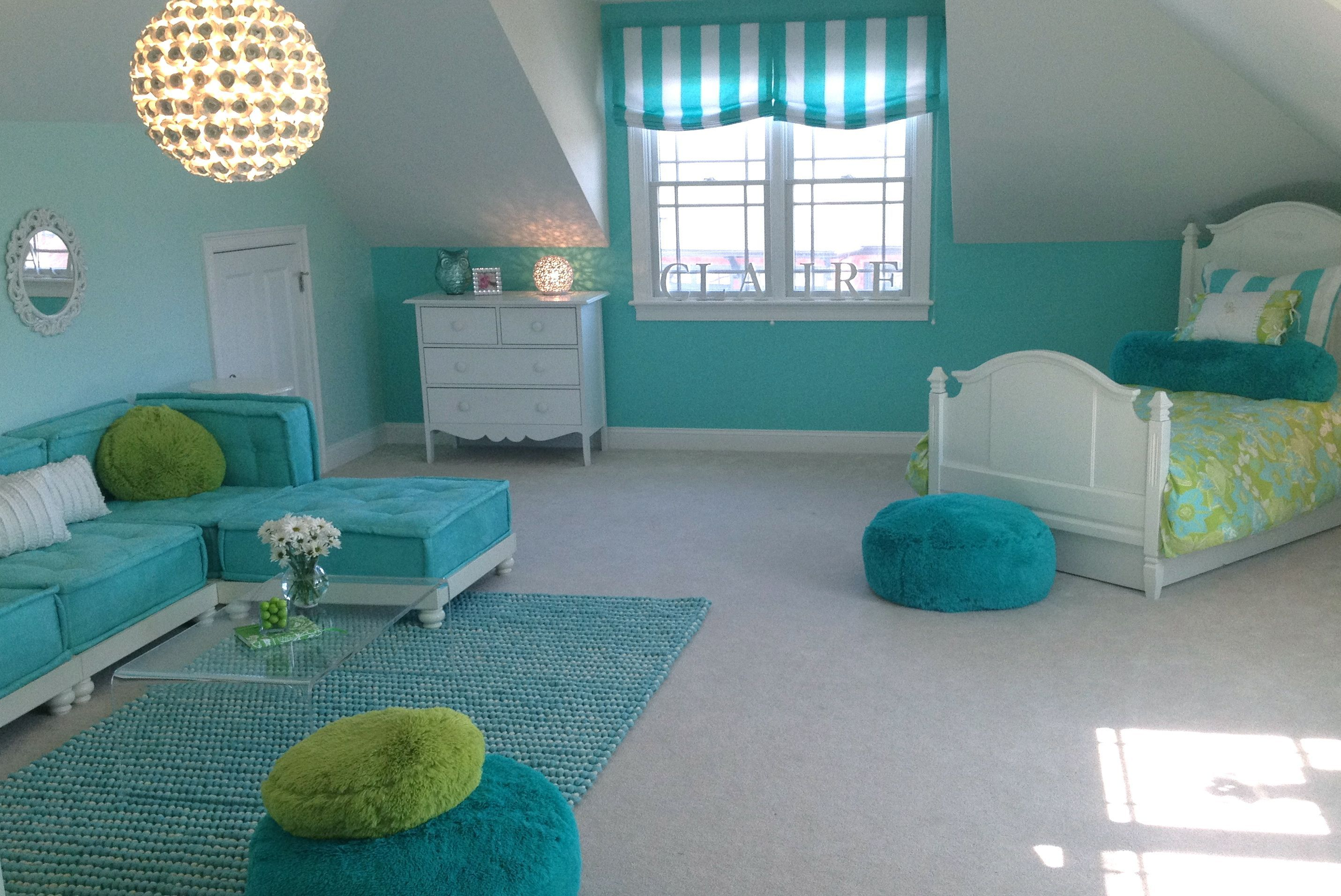 Palm Beach Chic Teenage Girls Bedroom & Lounge