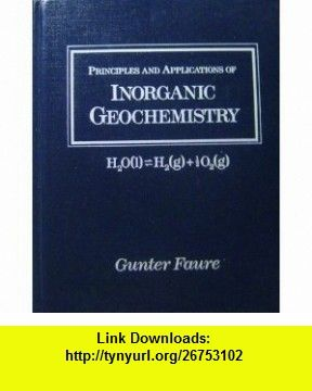 Principles And Applications Of Geochemistry Faure Pdf