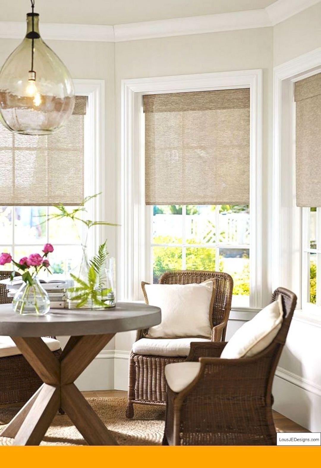 Pin By Amanda On Remodeling Ideas Living Room Windows Kitchen Bay Window Farmhouse Window Treatments