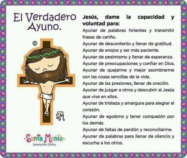 El verdadero ayuno   Católico   Pinterest   Miércoles de ceniza ...