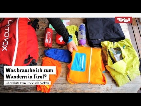 Wanderrucksack richtig packen | Checkliste › BlogTirol