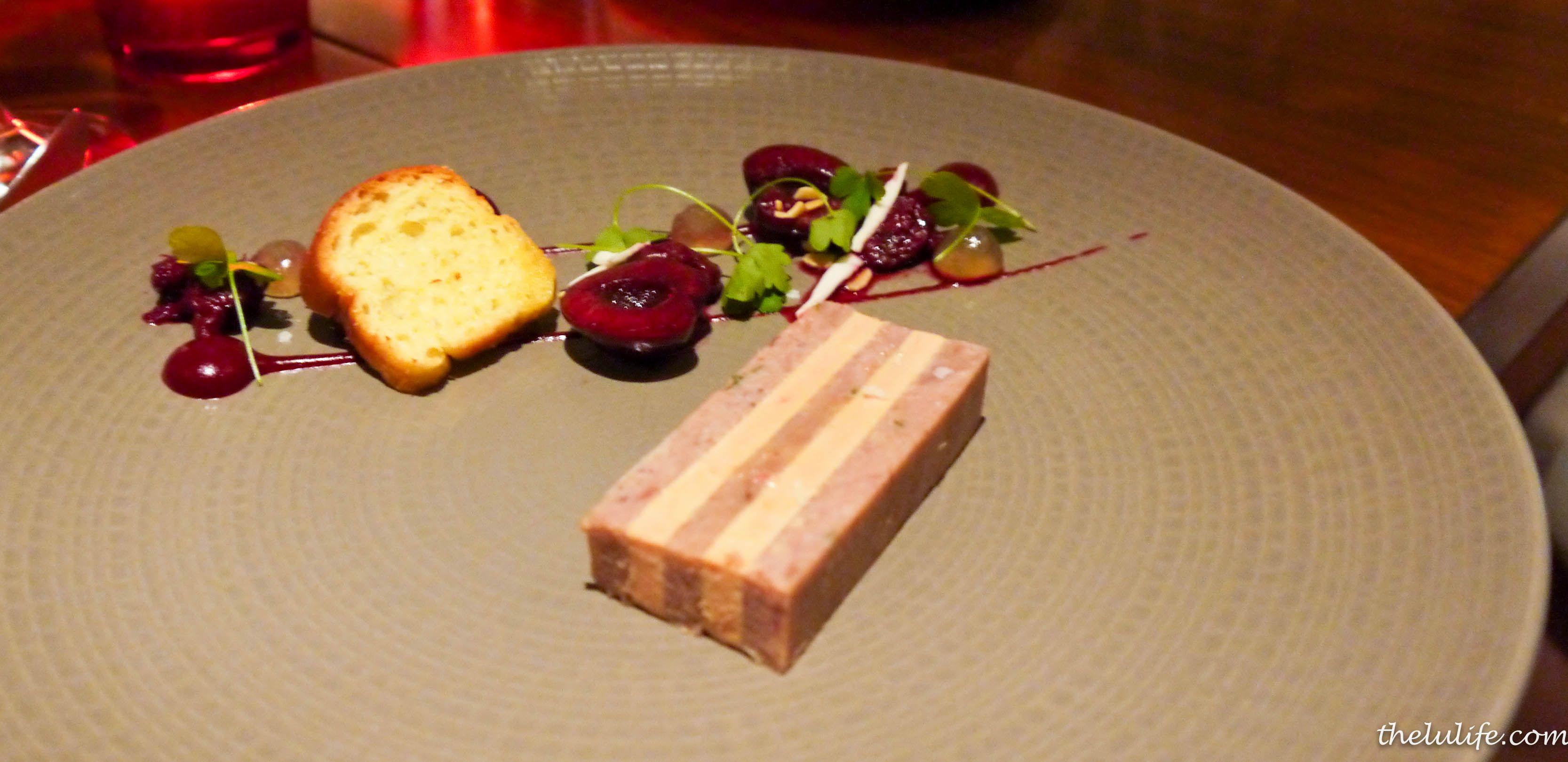 p1070256 duck and foie gras terrine cherries wet almonds. Black Bedroom Furniture Sets. Home Design Ideas