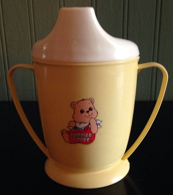 Vintage Baby Sippy Cup Tommee Tippee Yellow 6 OZ CLEAN   Pinterest ...