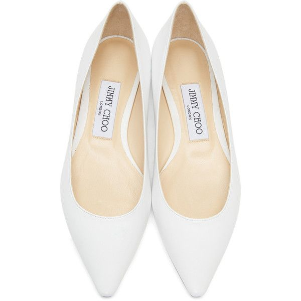 Jimmy choo shoes flats, White leather