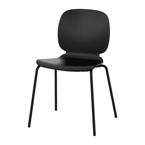 IKEA - SVENBERTIL Chair You sit comfortably thanks to the restful flexibility of the scooped seat and shaped back.The self-adjusting plastic feet adds ...  sc 1 st  Pinterest & SVENBERTIL Chair black Broringe black | Home | Pinterest ...