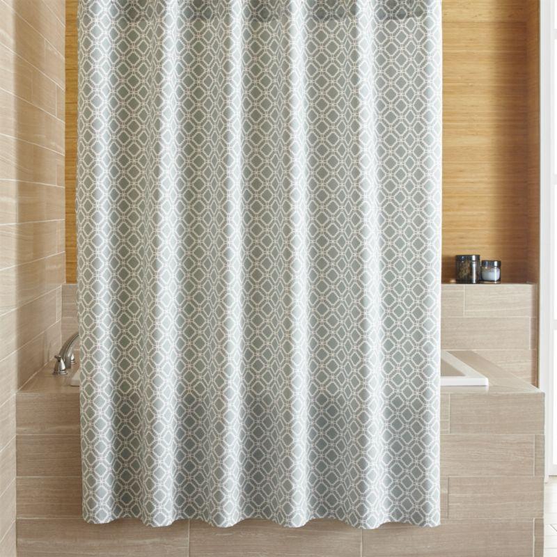 beige and blue shower curtain. Raj Blue Shower Curtain  Shower Curtains Crates And Barrels