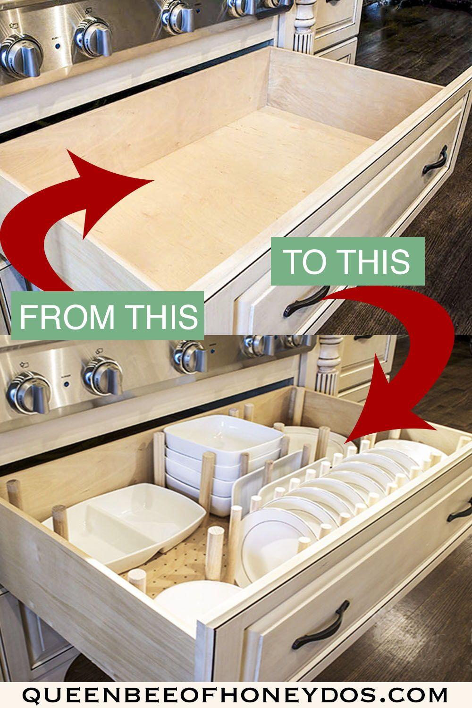 How To Dish Drawer Organizer Dish Drawers Diy Drawer Organizer Drawer Organisers
