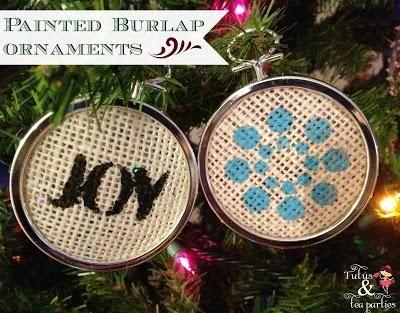 Diy painted burlap ornaments diy burlap diy crafts do it yourself diy painted burlap ornaments diy burlap diy crafts solutioingenieria Gallery