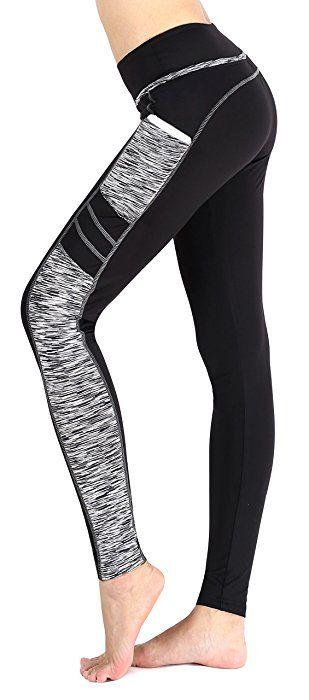 schwarz Exclusive Damen Tights Laufleggings Leggings Outdoor Jogging Hosen