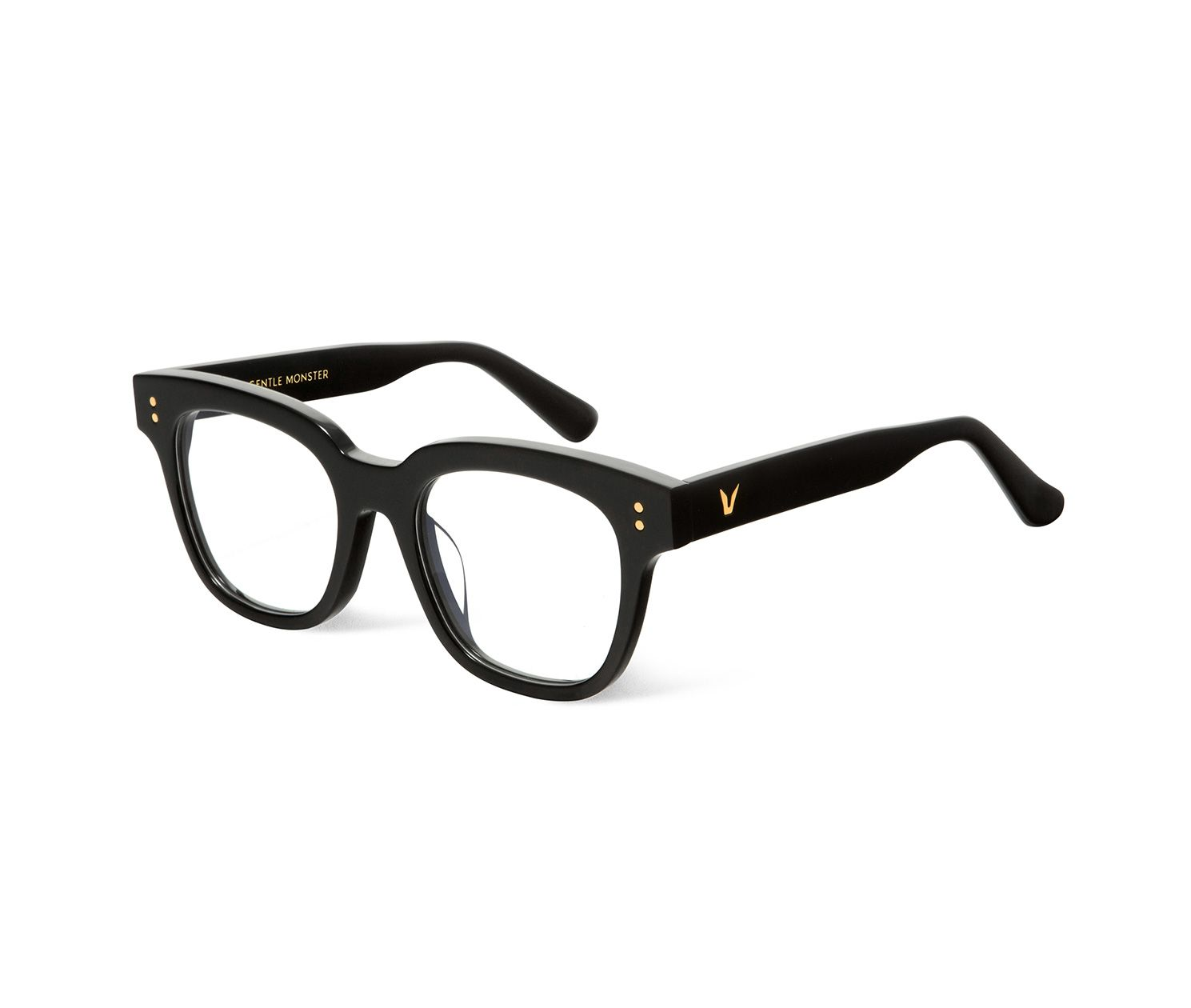 d71f8cef6b8a GENTLE MONSTER - wild wild 2 01 - black bold square plastic frames ...