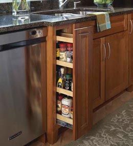 Storage Solutions Details - Base Pantry Pull-out - KraftMaid ...