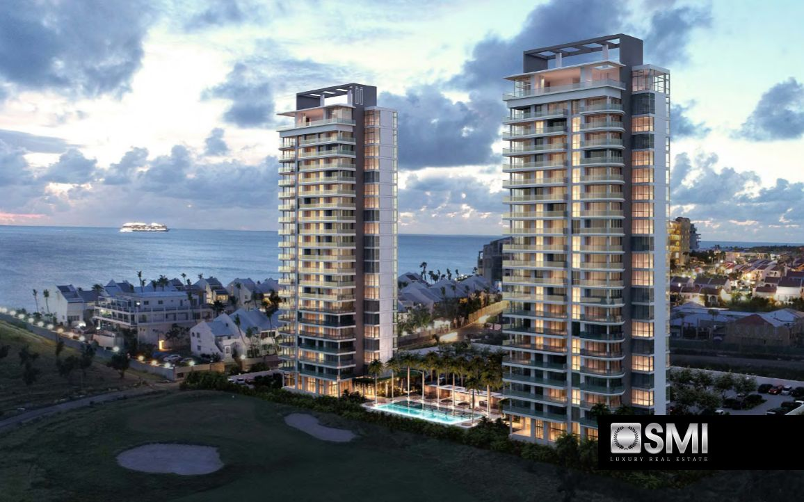 Beautiful newly tower buildings at Mullet Bay, with condo
