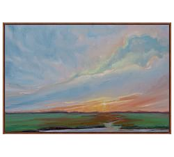 sun salutation canvasvanessa piche  canvas framed