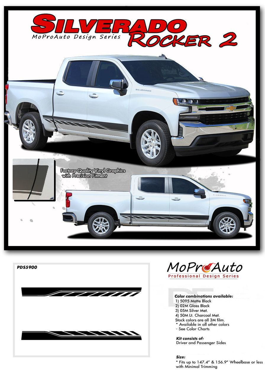 TRACK XL Vinyl Graphics Side Door Body Accent Stripe Decal for Chevy Colorado