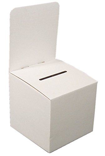 My Charity Boxes - Pack of 10 - Large Cardboard Box - Ballot Box - employee suggestion forms