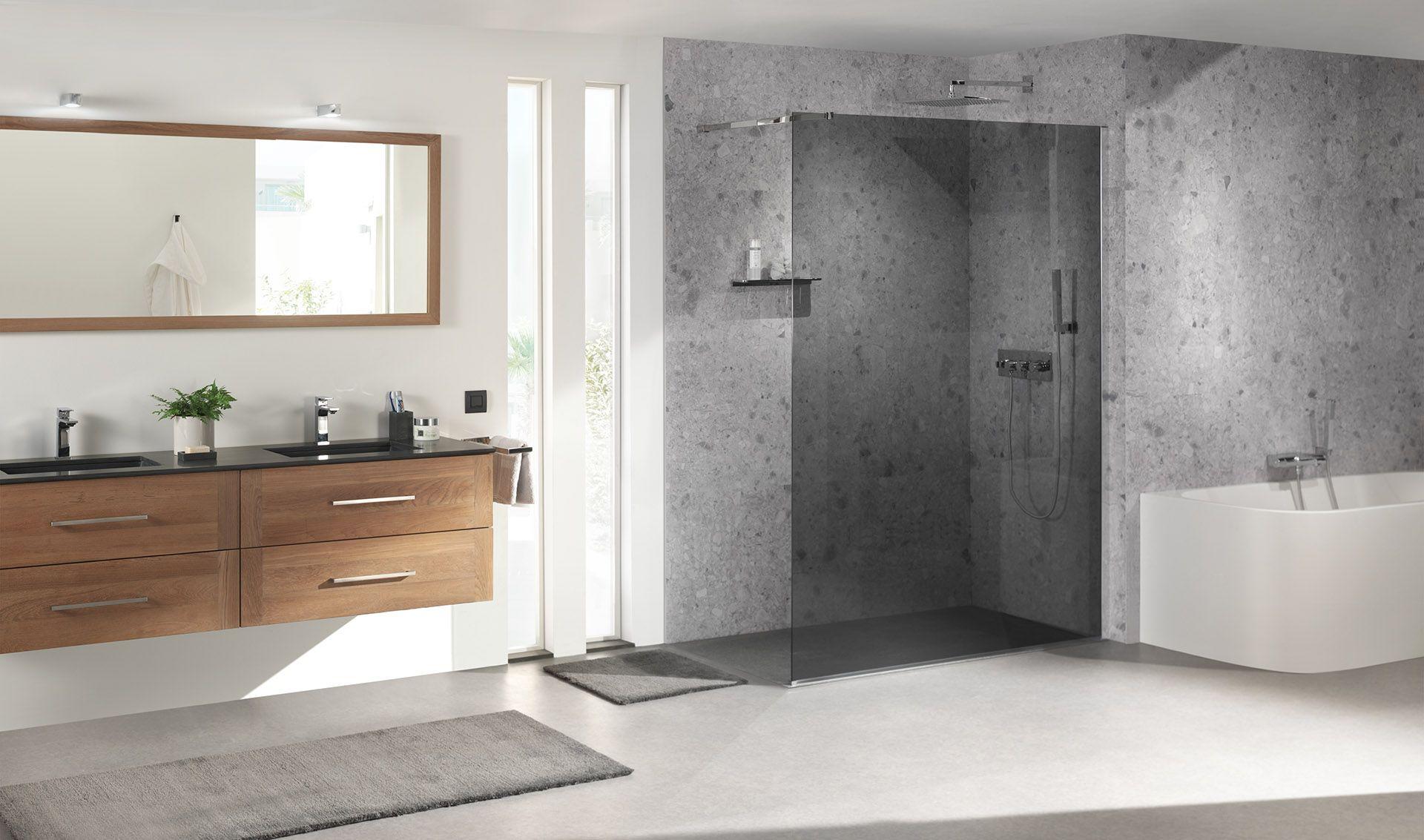 X2O | Balmani Modular Shower System inloopdouche grijs glas / douche ...