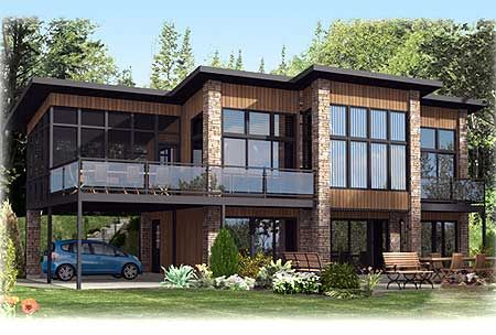 Plan 90241pd Contemporary Home Plan With All Beds Down