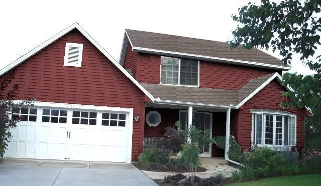 red exterior house colors. red house design pictures remodel decor