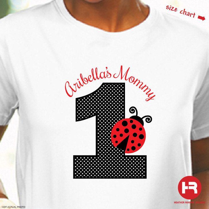 ADULT Ladybug Birthday Shirt  Personalized by HeatherRogersDesigns