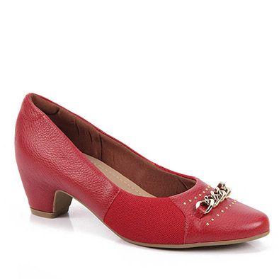 d78781961 Sapato Scarpin Feminino Usaflex - Vermelho - Passarela.com | Shoes ...