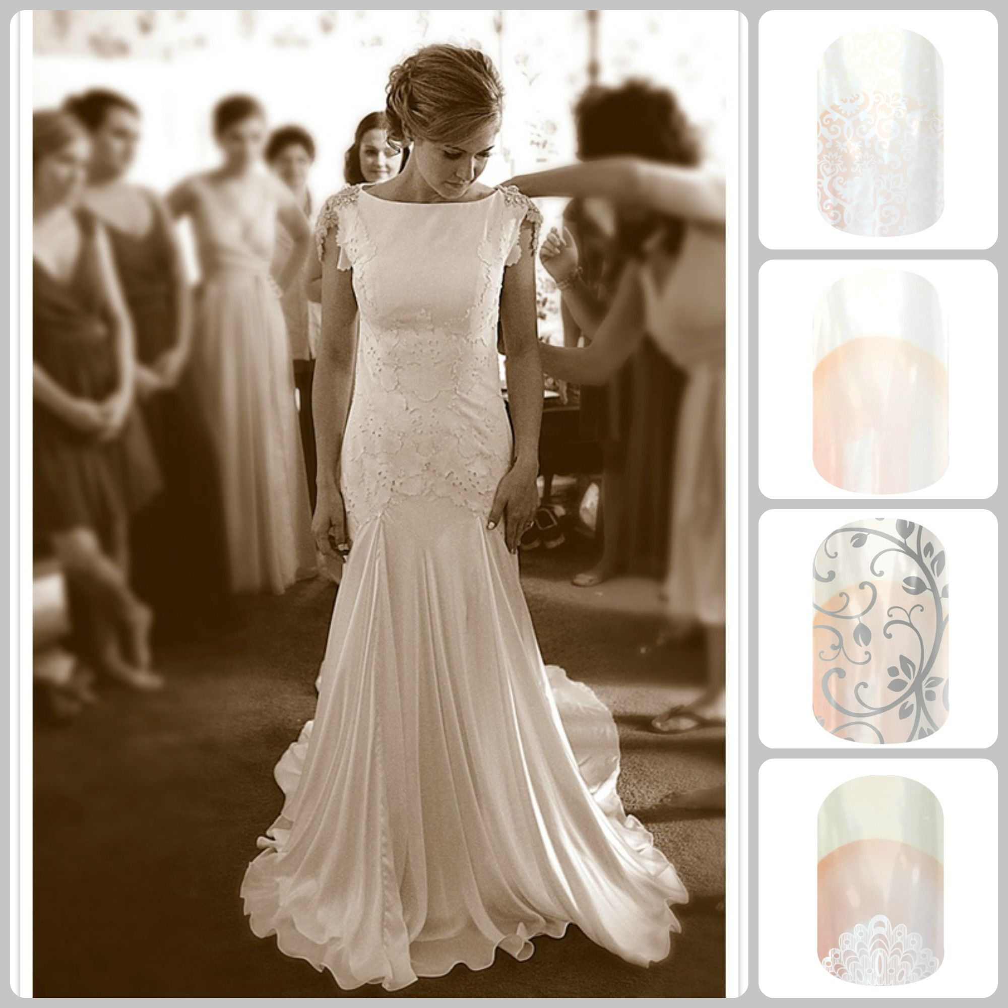 Eyelet wedding dress  Trying to decide how to do your nails for your wedding Try Jamberry