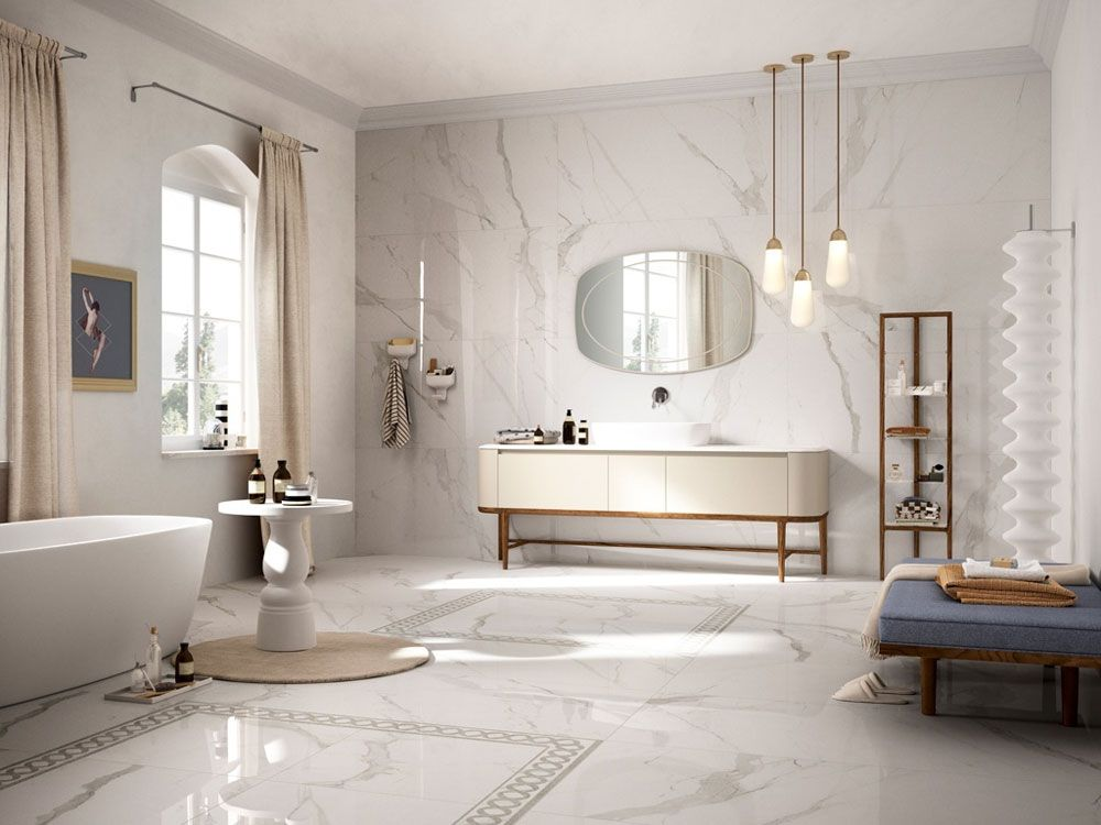 The Hottest Trend At Cersaie 2017 Are Ceramic Tiles That Mimic Other  Materials, Anything From