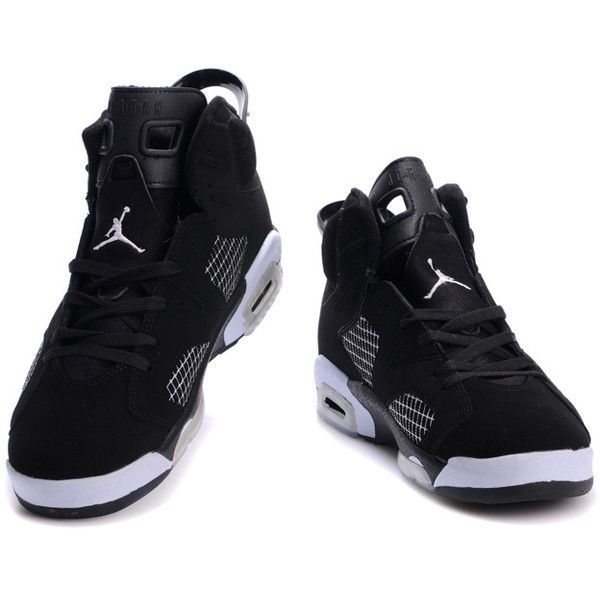 save off 16dff 61657 Air jordan 6 Black-White ( 53) ❤ liked on Polyvore Black Jordans,