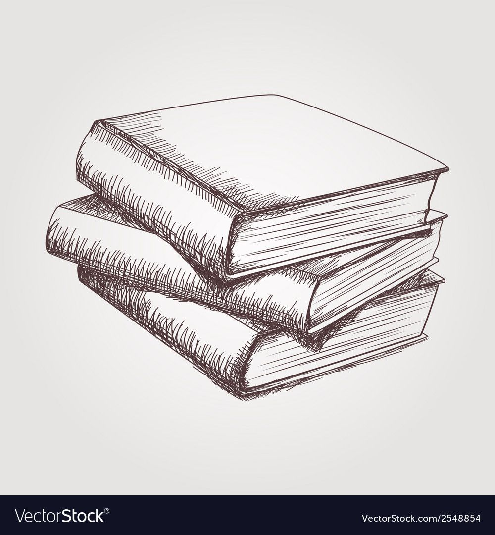 How to Draw a Stack Of Books - DrawingNow | Book drawing ...
