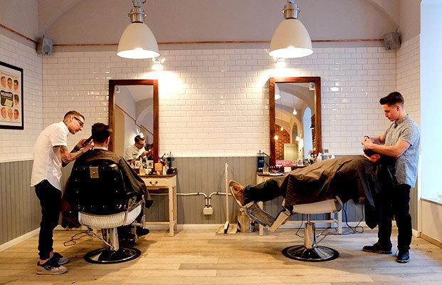 Worlds Most Famous Male Interior Designers: Brother's Barbershop: Where Manly Men Go To Beautify Their