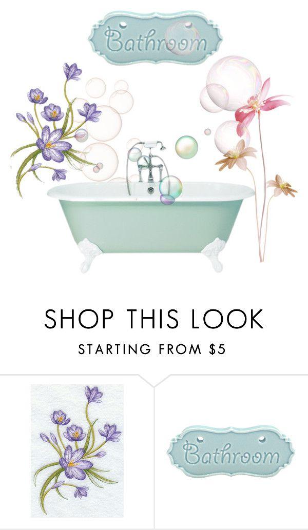 """Bathroom"" by smartdesign ❤ liked on Polyvore featuring interior, interiors, interior design, home, home decor, interior decorating and bathroom"